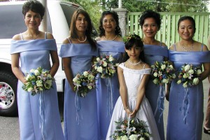CJ wedding bridesmaids