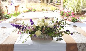 joan fairs floral head table wedding